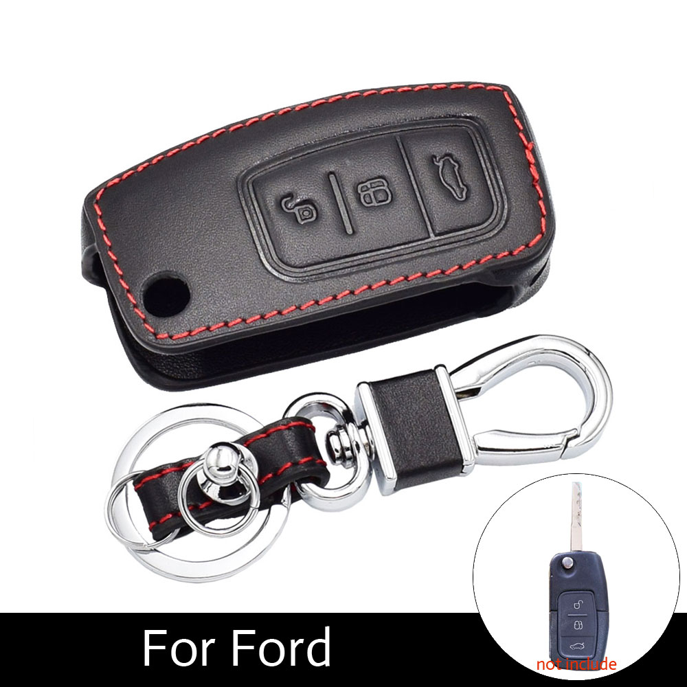 Bao da chìa khóa xe Ford Fiesta Focus 2 Mondeo Ecosport Kuga Escape
