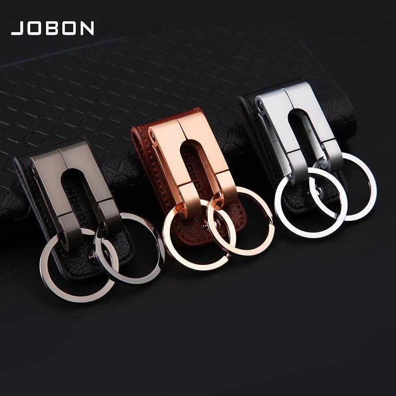 Móc khóa da đeo thắt lưng cao cấp chính hãng Jobon MK177