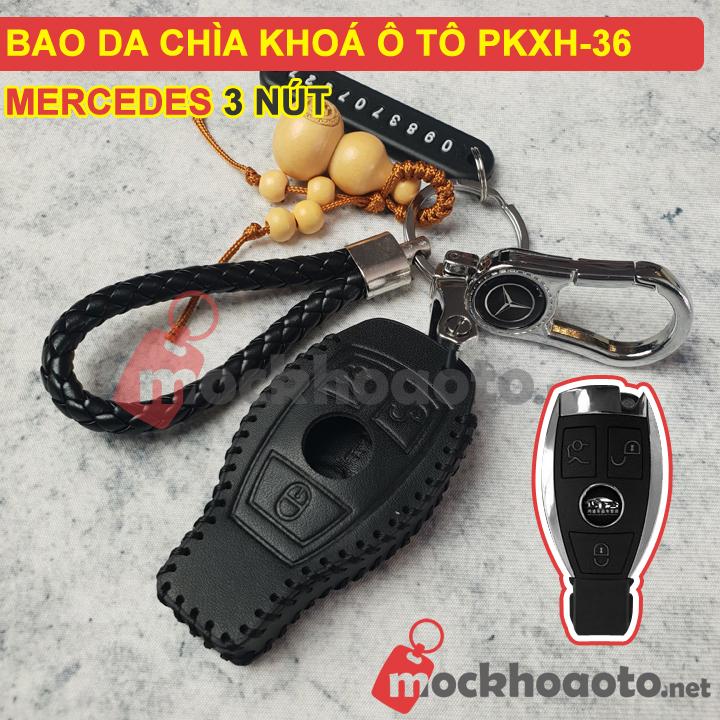 Bao da chìa khóa ô tô Mercedes 3 nút PKXH-36