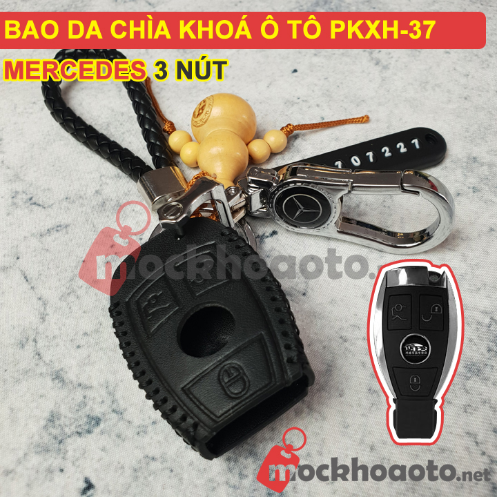 Bao da chìa khoá ô tô Mercedes 3 nút PKXH-37