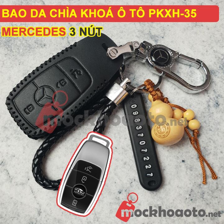 Bao da chìa khóa ô tô Mercedes 3 nút PKXH-35