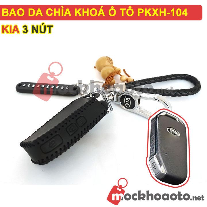Bao da chìa khóa ô tô KIA 3 nút PKXH-104