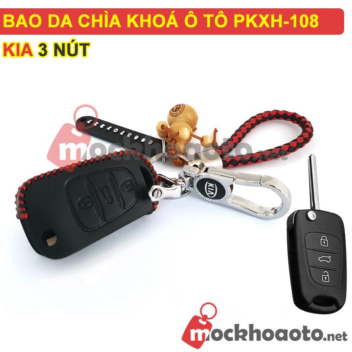 Bao da chìa khoá ô tô KIA 3 nút PKXH-108