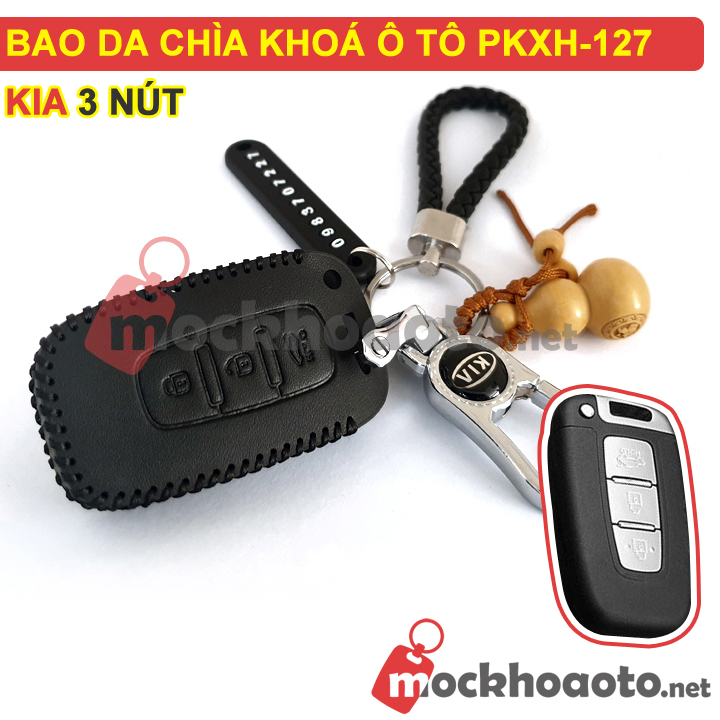 Bao da chìa khoá ô tô KIA 3 nút PKXH-127