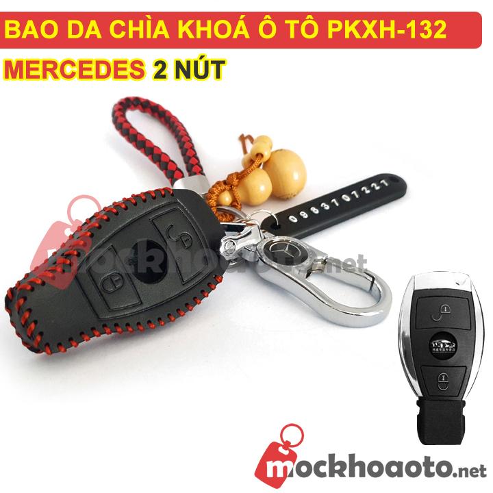 Bao da chìa khóa ô tô Mercedes 2 nút PKXH-132